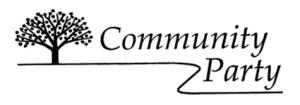 communitypartylogonarrow